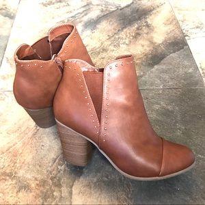 Cognac ankle boots wide width, LC by Lauren Conrad